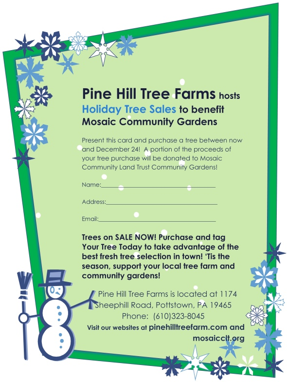 Holiday Tree Sales Flyer 2014